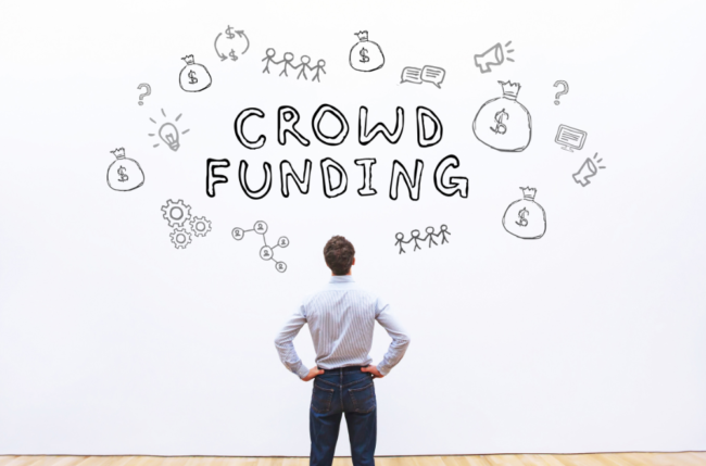 stock image crowd funding
