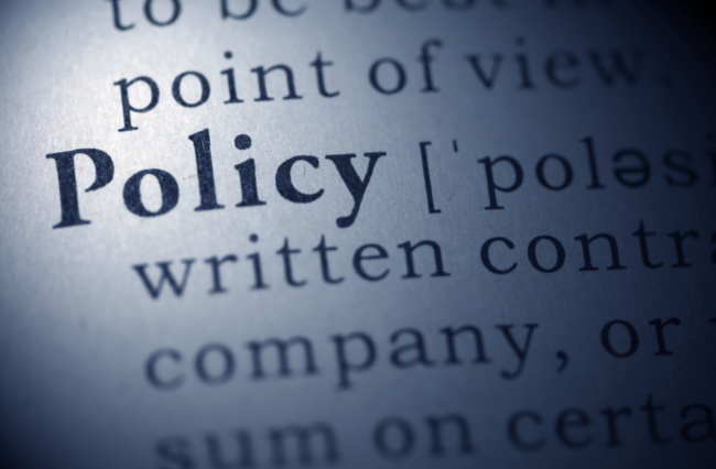 policy stock word