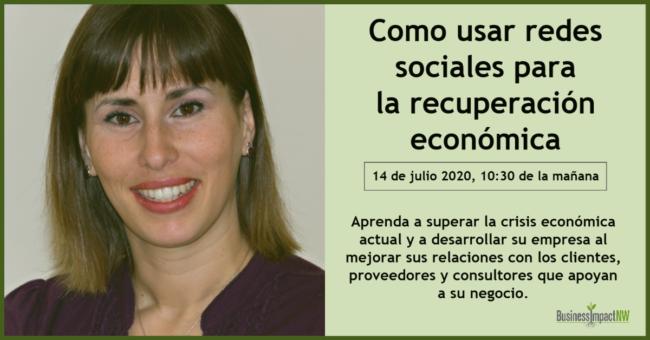 redes sociales para recuperacion economica