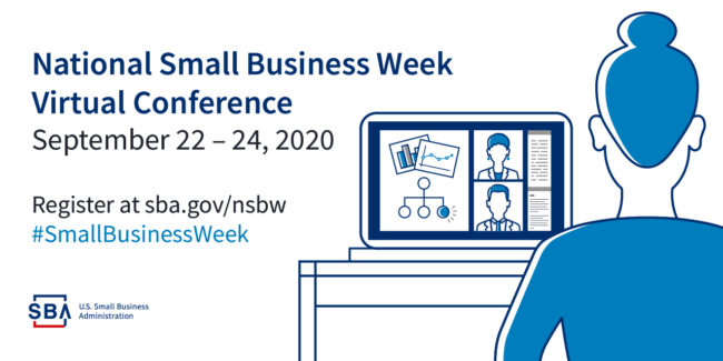 tile for small business week Sept 22-24 2020 SBA
