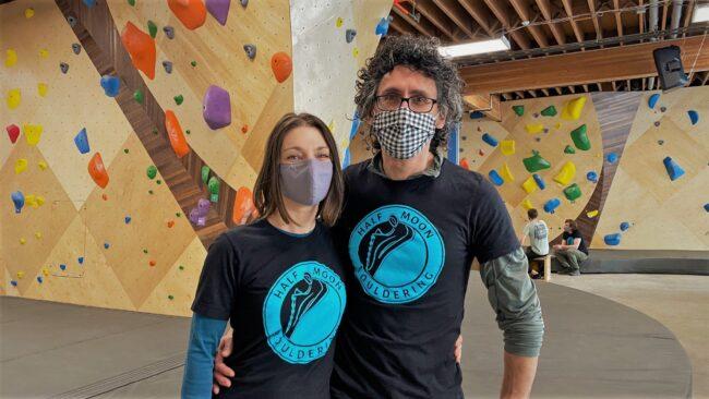 Gloria and Daniel Man of Half Moon Bouldering